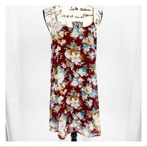 Final Touch Floral Spaghetti Strap Slip Dress Med